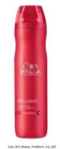 Wella Professional Care Brilliance Shampoo Fine/Normal 250ml Šampon pro jemné barvené vlasy