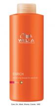 Wella ENRICH Coarse - regenerační šampon pro silné suché a poškozené vlasy 1000 ml